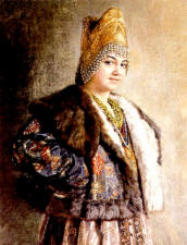 Южно-русский кокошник с двумя гребнями и поднизями